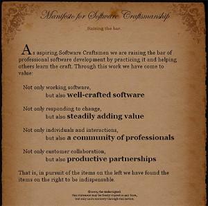 Manifesto for Software Craftmanship